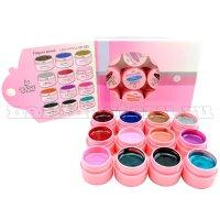 Canni elegant series gel color - цветной уф гель серия Элегант (12 штук).