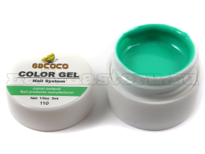 Gd coco gel color - №110 бирюзовый 5 мл.