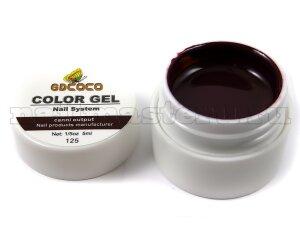 Gd coco gel color - №125 коричневый 5 мл.