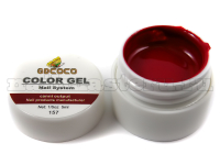 Gd coco gel color - №157 темно-бордовый 5 мл.