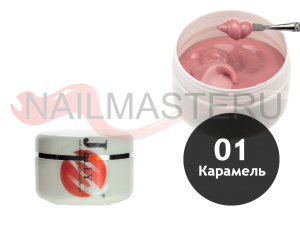 Гель желе (суфле) камуфлирующий Nail style № 1 Карамель, 30 мл