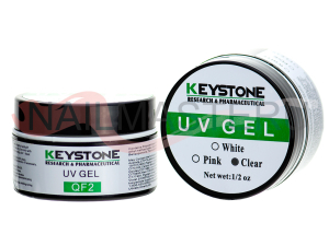 Прозрачный однофазный уф гель - Keystone uv clear gel 15 ml.