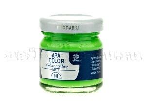 Акриловая краска Apa Color №11 - Зеленая светлая (40 мл)