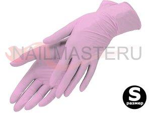 Перчатки нитриловые Archdale розовые, размер S